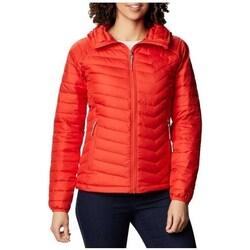 vaatteet Naiset Takit Columbia WM Powder Lite Hooded Jacket Punainen