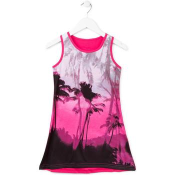 vaatteet Tytöt Lyhyt mekko Losan 714 7003AB Vaaleanpunainen