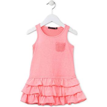 vaatteet Tytöt Lyhyt mekko Losan 716 7009AD Vaaleanpunainen