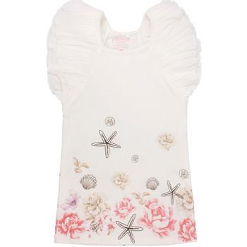vaatteet Tytöt Lyhyt mekko Primigi 37113571 Valkoinen