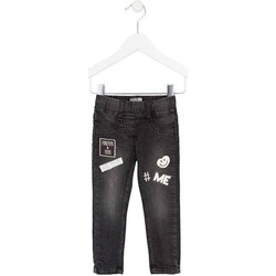 vaatteet Tytöt Slim-farkut Losan 726 6032AD Musta