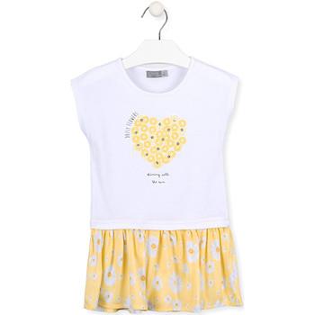 vaatteet Tytöt Lyhyt mekko Losan 016-7021AL Valkoinen