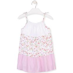 vaatteet Tytöt Lyhyt mekko Losan 016-7030AL Valkoinen