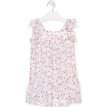 vaatteet Tytöt Lyhyt mekko Losan 016-7031AL Valkoinen