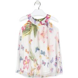 vaatteet Tytöt Lyhyt mekko Losan 016-7793AL Valkoinen
