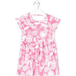 vaatteet Tytöt Lyhyt mekko Losan 018-7042AL Vaaleanpunainen