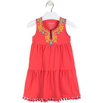 vaatteet Tytöt Lyhyt mekko Losan 016-7012AL Punainen