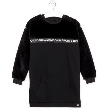 vaatteet Tytöt Lyhyt mekko Losan 024-7006AL Musta