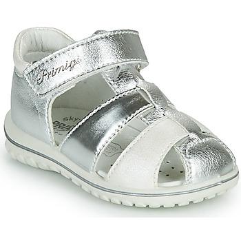 kengät Tytöt Sandaalit ja avokkaat Primigi GABBY Hopea / Valkoinen