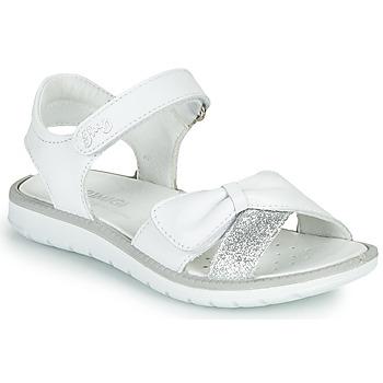 kengät Tytöt Sandaalit ja avokkaat Primigi LOLA Valkoinen / Hopea