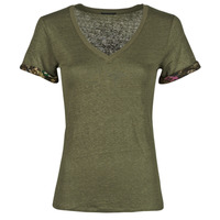 vaatteet Naiset Lyhythihainen t-paita Ikks BS10255-56 Kaki
