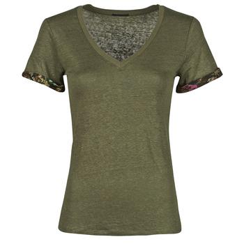 vaatteet Naiset Lyhythihainen t-paita Ikks BS10255-56 Khaki