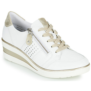 kengät Naiset Matalavartiset tennarit Remonte Dorndorf DORA Valkoinen / Kulta