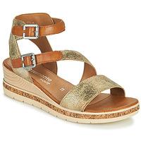 kengät Naiset Sandaalit ja avokkaat Remonte Dorndorf BALANCE Kulta / Ruskea
