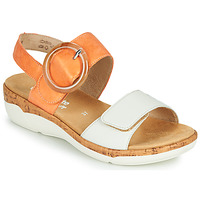 kengät Naiset Sandaalit ja avokkaat Remonte Dorndorf ORAN Oranssi / Valkoinen