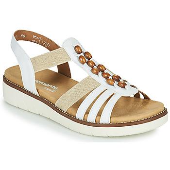 kengät Naiset Sandaalit ja avokkaat Remonte Dorndorf GRISSA Valkoinen / Harmaa