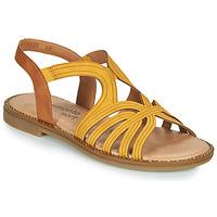 kengät Naiset Sandaalit ja avokkaat Remonte Dorndorf SANDA Keltainen / Ruskea