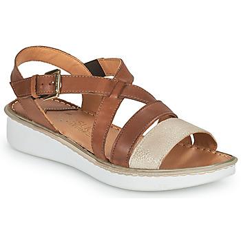 kengät Naiset Sandaalit ja avokkaat Casual Attitude ODETTE Kamelinruskea / Kulta