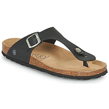 kengät Naiset Varvassandaalit Casual Attitude OXOA Musta
