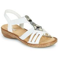kengät Naiset Sandaalit ja avokkaat Rieker DOLNA Valkoinen