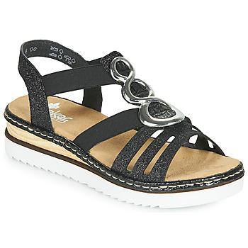 kengät Naiset Sandaalit ja avokkaat Rieker FANNI Sininen