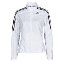 vaatteet Naiset Ulkoilutakki adidas Performance MARATHON JKT W Valkoinen