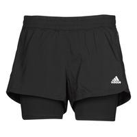 vaatteet Naiset Shortsit / Bermuda-shortsit adidas Performance PACER 3S 2 IN 1 Musta