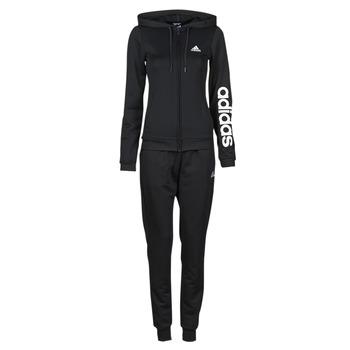 vaatteet Naiset Verryttelypuvut adidas Performance W LIN FT TS Musta
