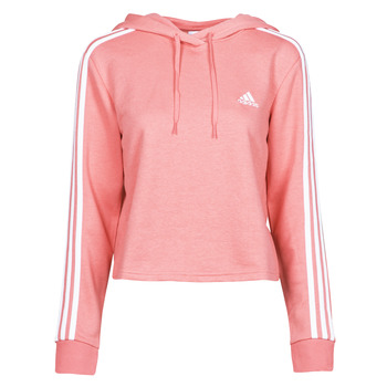 vaatteet Naiset Svetari adidas Performance W 3S FT CRO HD Vaaleanpunainen