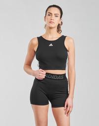 vaatteet Naiset Urheiluliivit adidas Performance W 3S CRO Musta