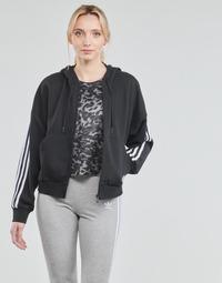 vaatteet Naiset Ulkoilutakki adidas Performance W 3S FZ HD Musta