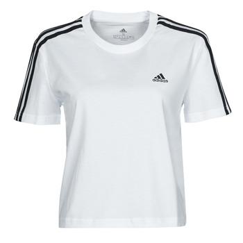 vaatteet Naiset Lyhythihainen t-paita adidas Performance W 3S CRO T Valkoinen