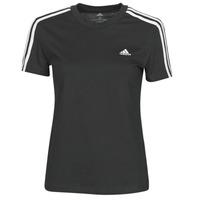 vaatteet Naiset Lyhythihainen t-paita adidas Performance W 3S T Musta