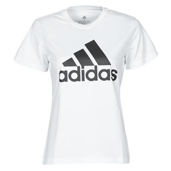 vaatteet Naiset Lyhythihainen t-paita adidas Performance W BL T Valkoinen