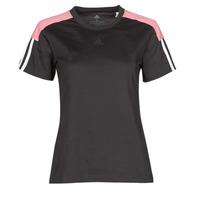 vaatteet Naiset Lyhythihainen t-paita adidas Performance W CB LIN T Musta