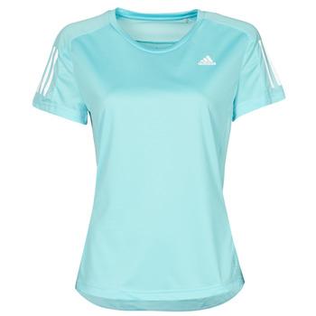 vaatteet Naiset Lyhythihainen t-paita adidas Performance OWN THE RUN TEE Sininen