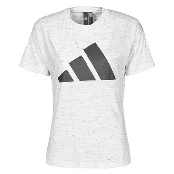 vaatteet Naiset Lyhythihainen t-paita adidas Performance W WIN 2.0 TEE Valkoinen