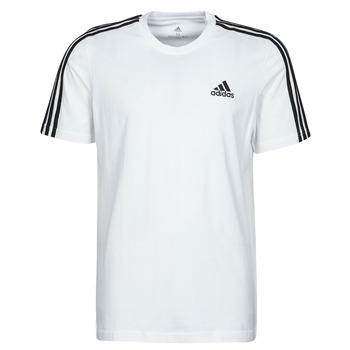 vaatteet Miehet Lyhythihainen t-paita adidas Performance M 3S SJ T Valkoinen