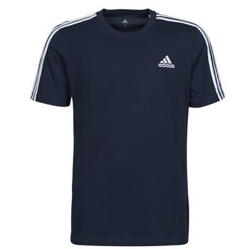 vaatteet Miehet Lyhythihainen t-paita adidas Performance M 3S SJ T Sininen