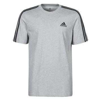 vaatteet Miehet Lyhythihainen t-paita adidas Performance M 3S SJ T Harmaa
