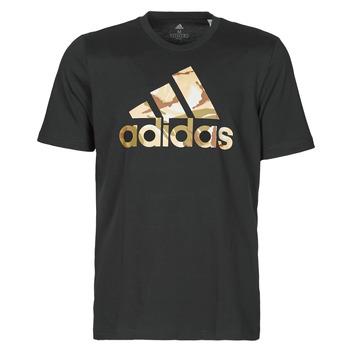 vaatteet Miehet Lyhythihainen t-paita adidas Performance M CAMO T Musta