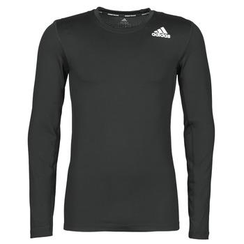 vaatteet Miehet T-paidat pitkillä hihoilla adidas Performance TF LS Musta