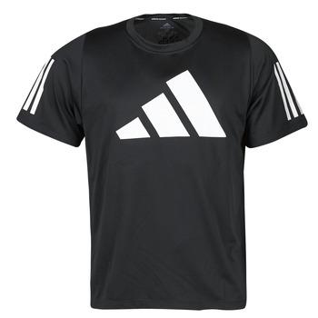 vaatteet Miehet Lyhythihainen t-paita adidas Performance FL 3 BAR TEE Musta