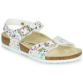 kengät Tytöt Sandaalit ja avokkaat Birkenstock RIO Valkoinen