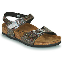 kengät Tytöt Sandaalit ja avokkaat Birkenstock RIO Musta / Kulta