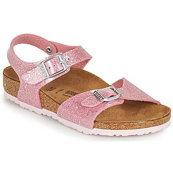 kengät Tytöt Sandaalit ja avokkaat Birkenstock RIO PLAIN Vaaleanpunainen