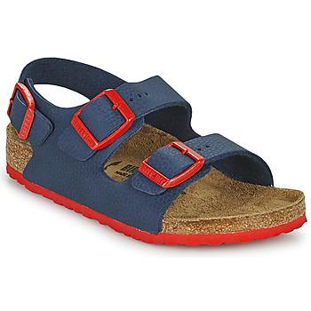 kengät Pojat Sandaalit ja avokkaat Birkenstock MILANO Sininen / Punainen