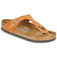 kengät Naiset Varvassandaalit Birkenstock GIZEH SFB Oranssi
