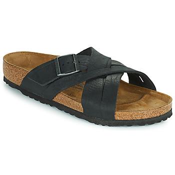 kengät Miehet Sandaalit Birkenstock LUGANO Musta