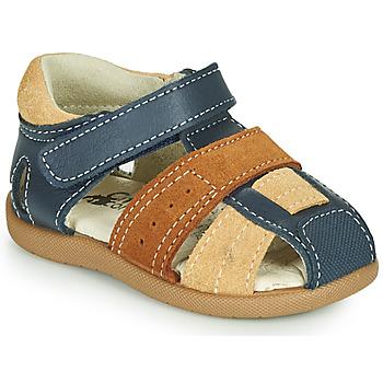 kengät Pojat Sandaalit ja avokkaat Citrouille et Compagnie OLOSS Sininen / Ruskea